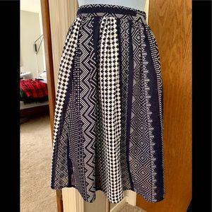 Vintage Summer Multi-Print Skirt